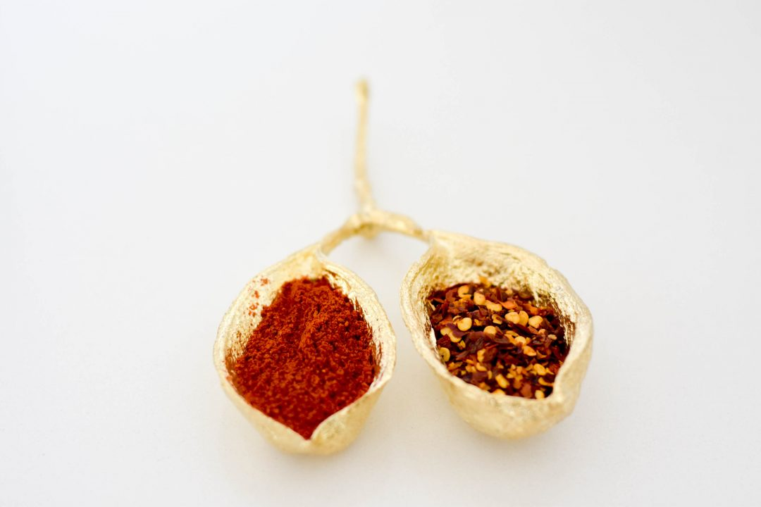 Metal Salt and Pepper Seed Pod - Brass