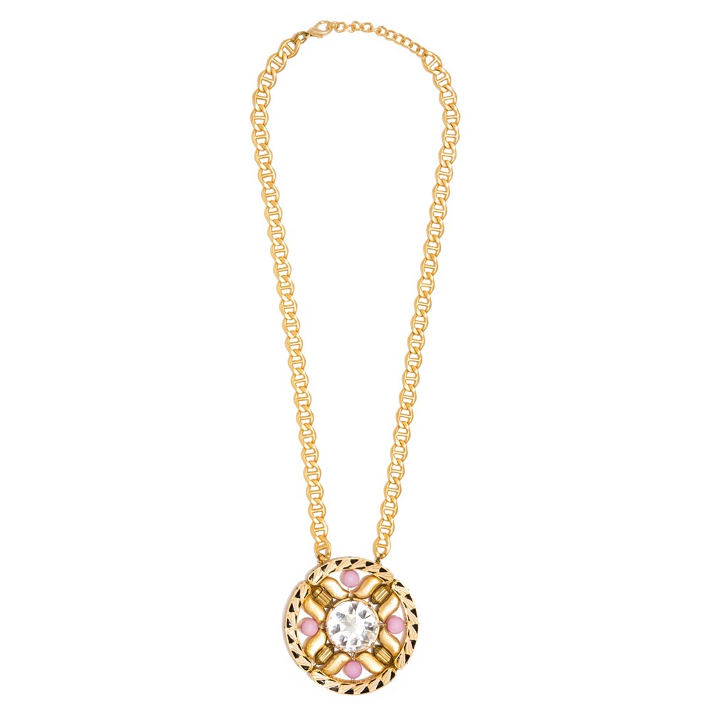 Valliyan 18Kt Gold Plated Medal Necklace