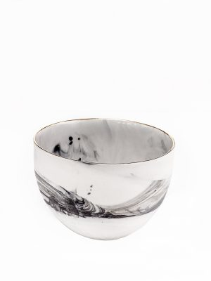 Collectable Porcelain Deep Sugar Bowl Marble