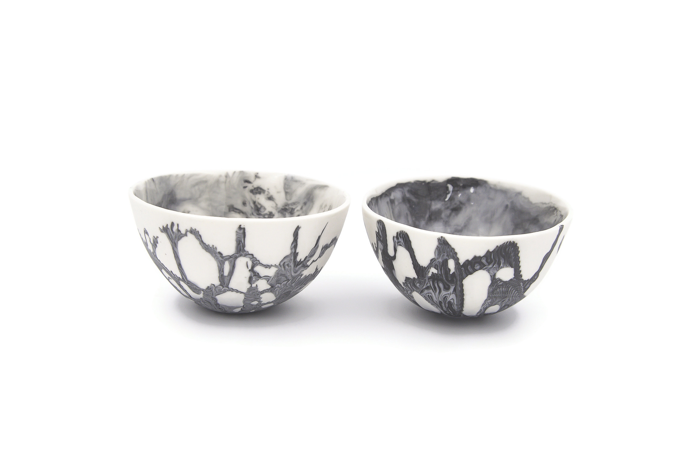 Ceramic Bowl, Marble Bowl, Porcelain Bowl, Premium Ceramics, Condiment Bowl, Oil and Balsamic Bowl, Mezze Bowl, Tapas Bowl