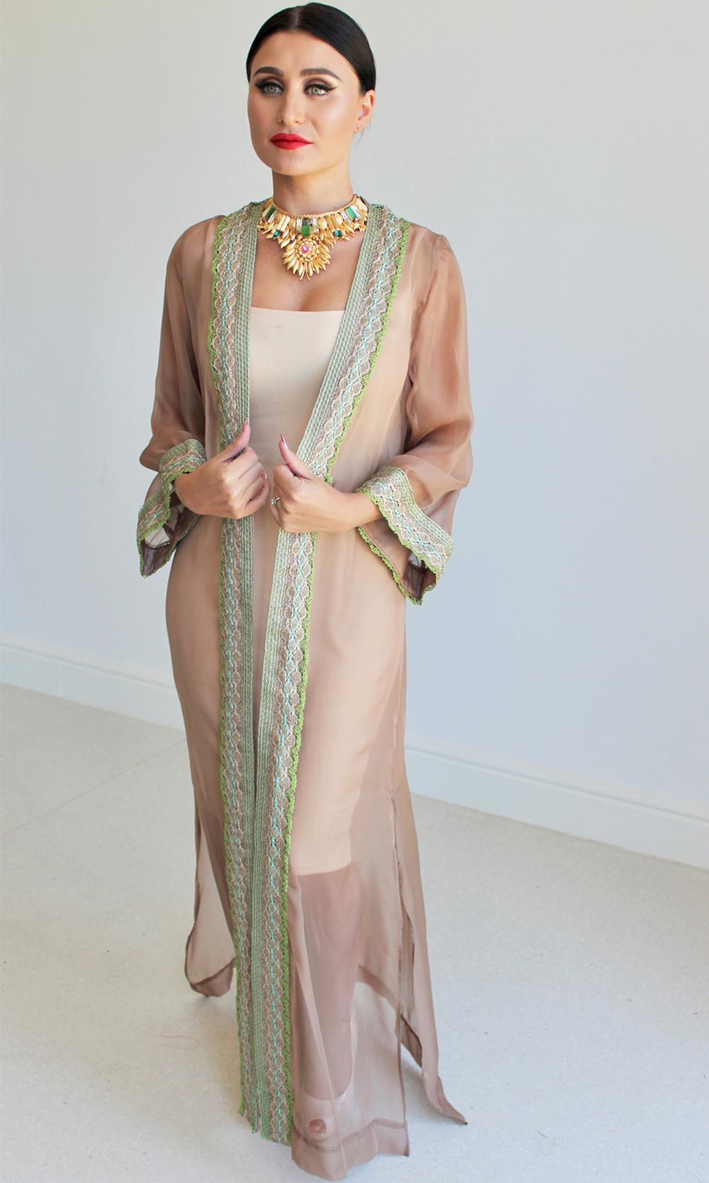 Sheer Chiffon Kimono Kaftan Robes