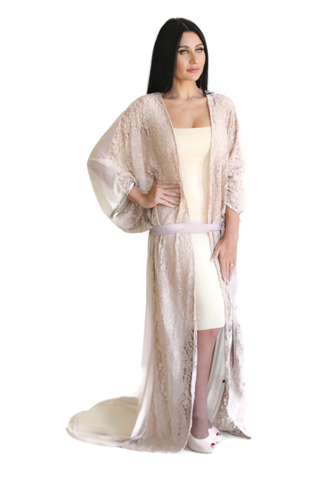 Kirti Kimono Robe Nude