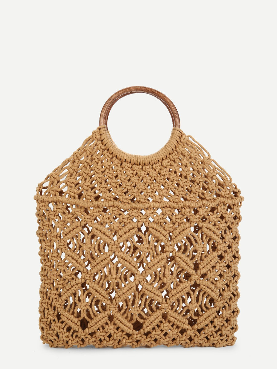 Spring 2018 Woven Tote (Brown)