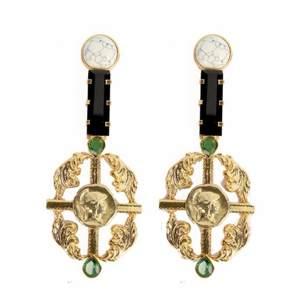 18Kt Gold Plated Rococo Earrings