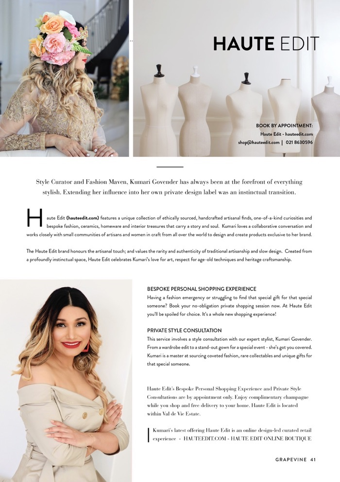 Val de Vie Grapevine Magazine Dec 2018