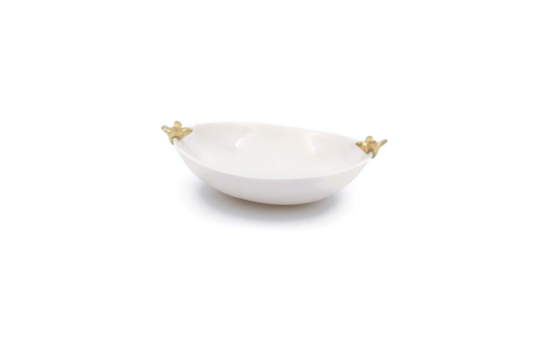 Porcelain Salt and Pepper Pinch Bowl Haute Edit Catch-All Trinket Dish