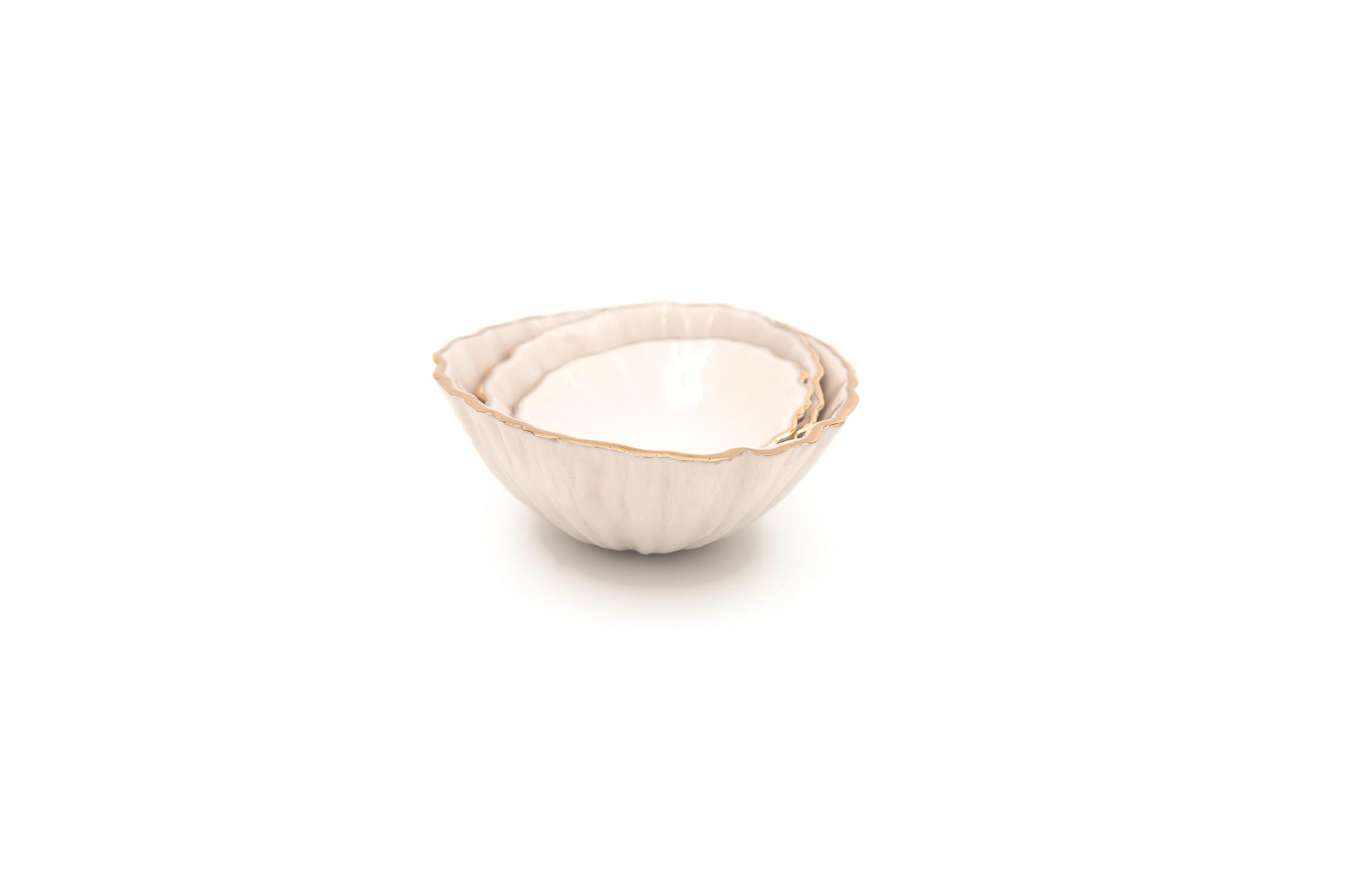 Handmade Porcelain Nesting Bowls (Set of 3)....