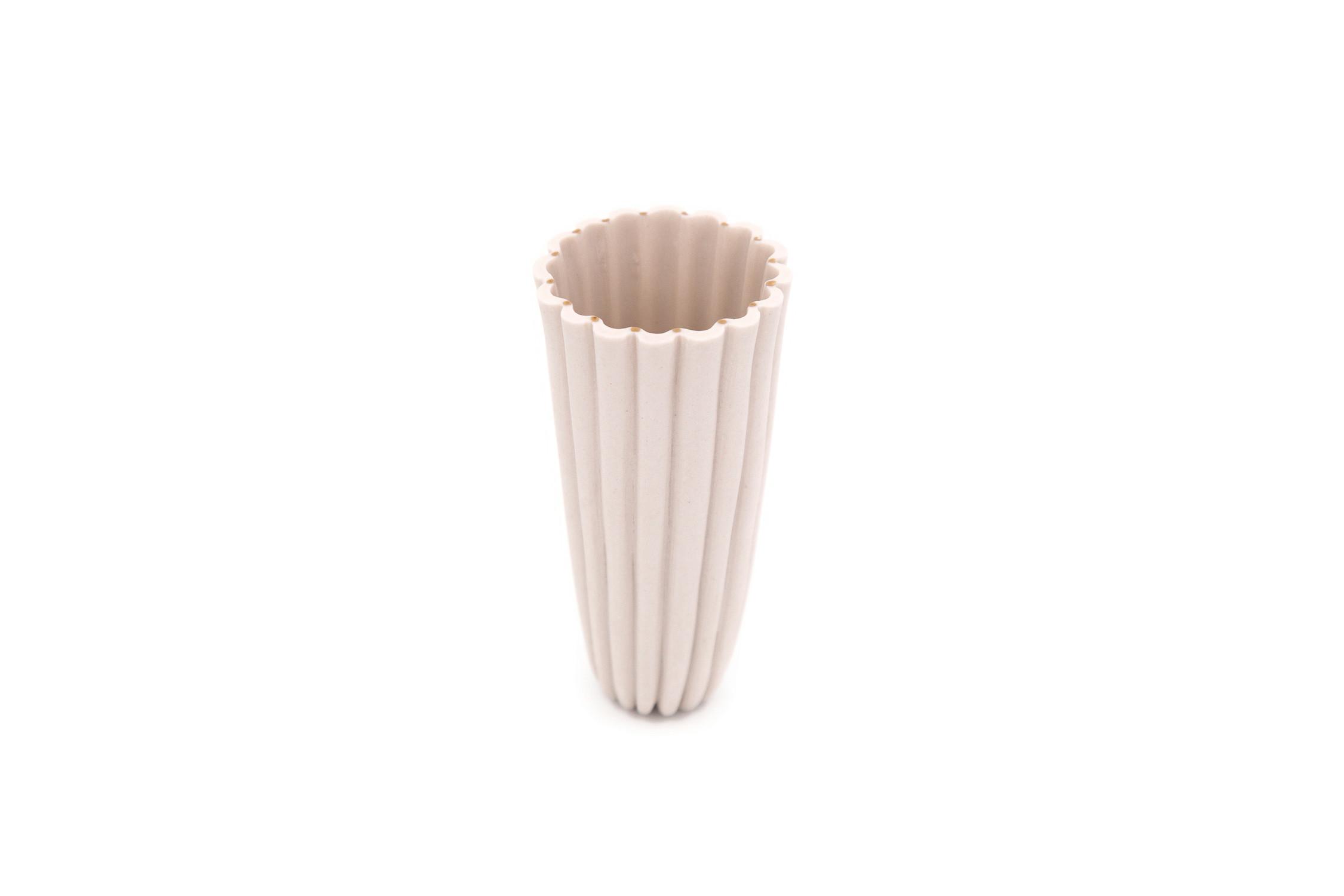 Porcelain Fluted Cup for espresso, green tea or sorbet