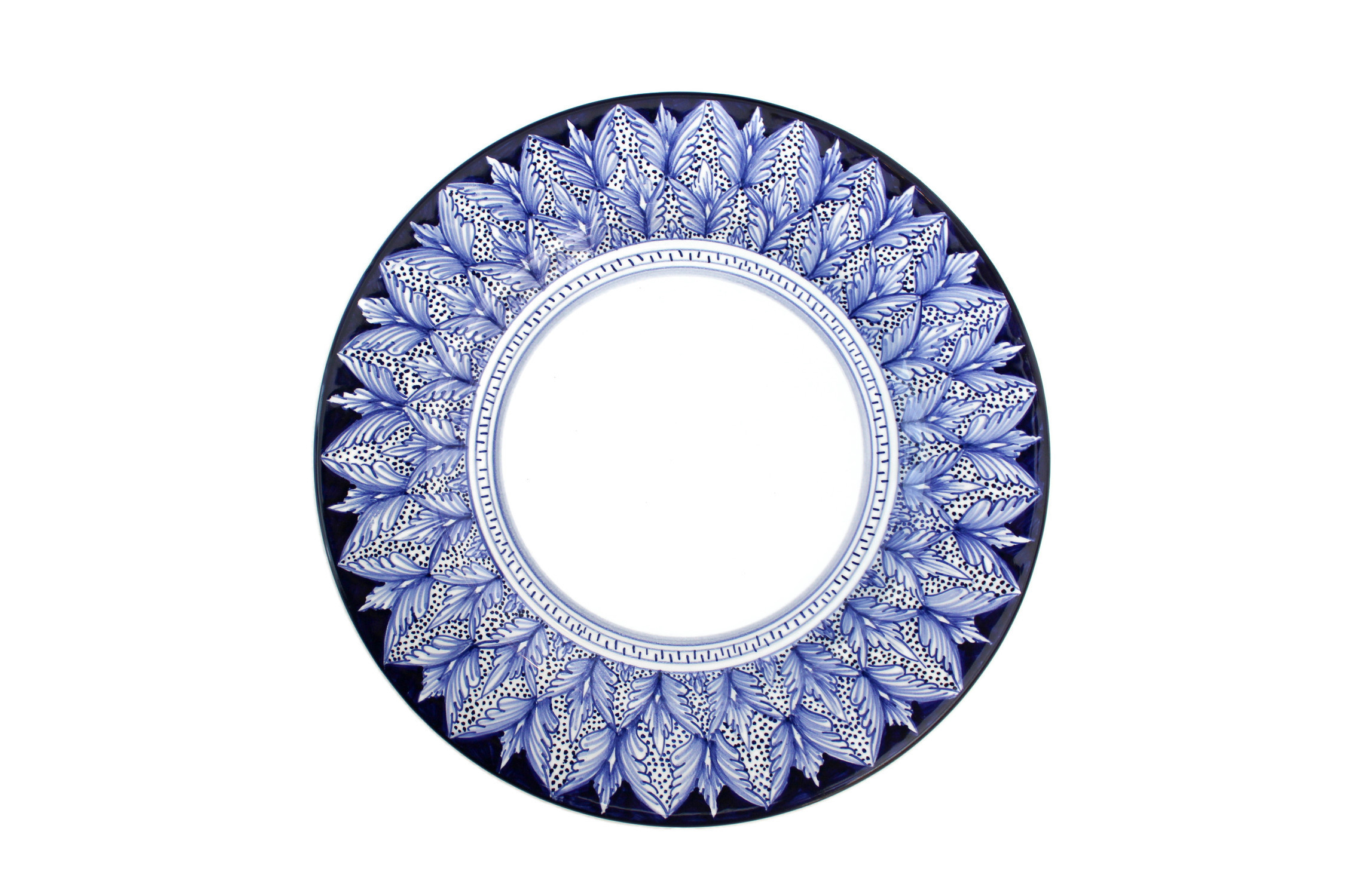 Blu Pavone Art Collection Antipasto Plate