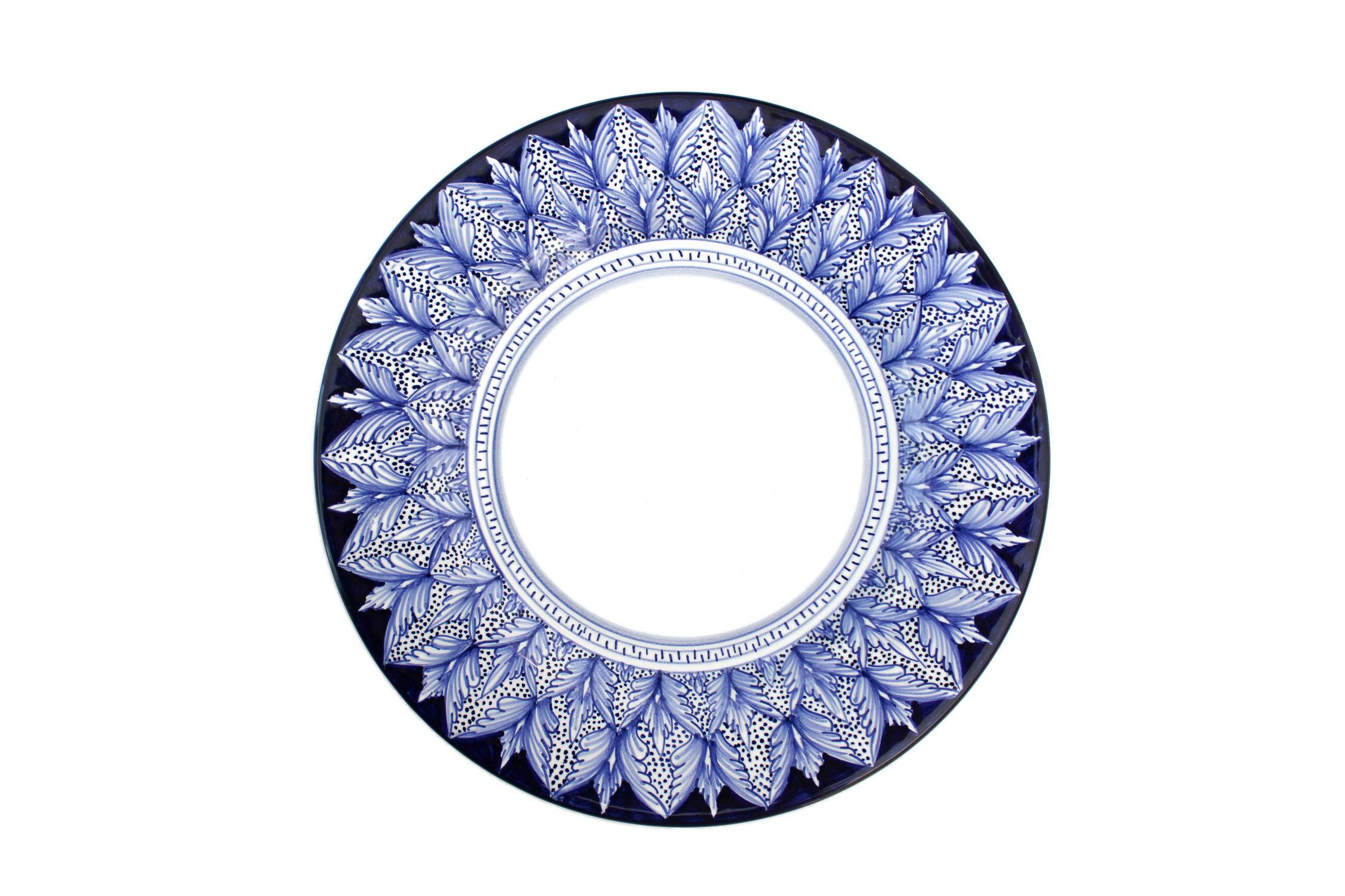 Blu Pavone Art Collection Antipasto Plate