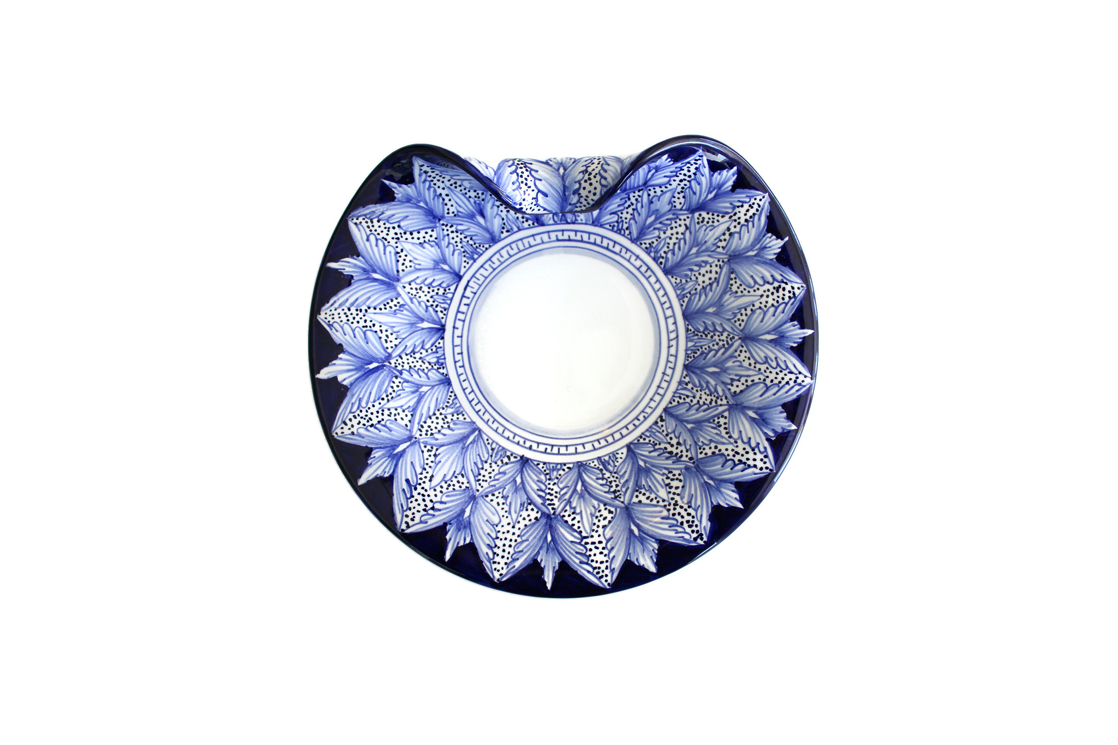 Blu Pavone Art Collection Aperitivo Plate