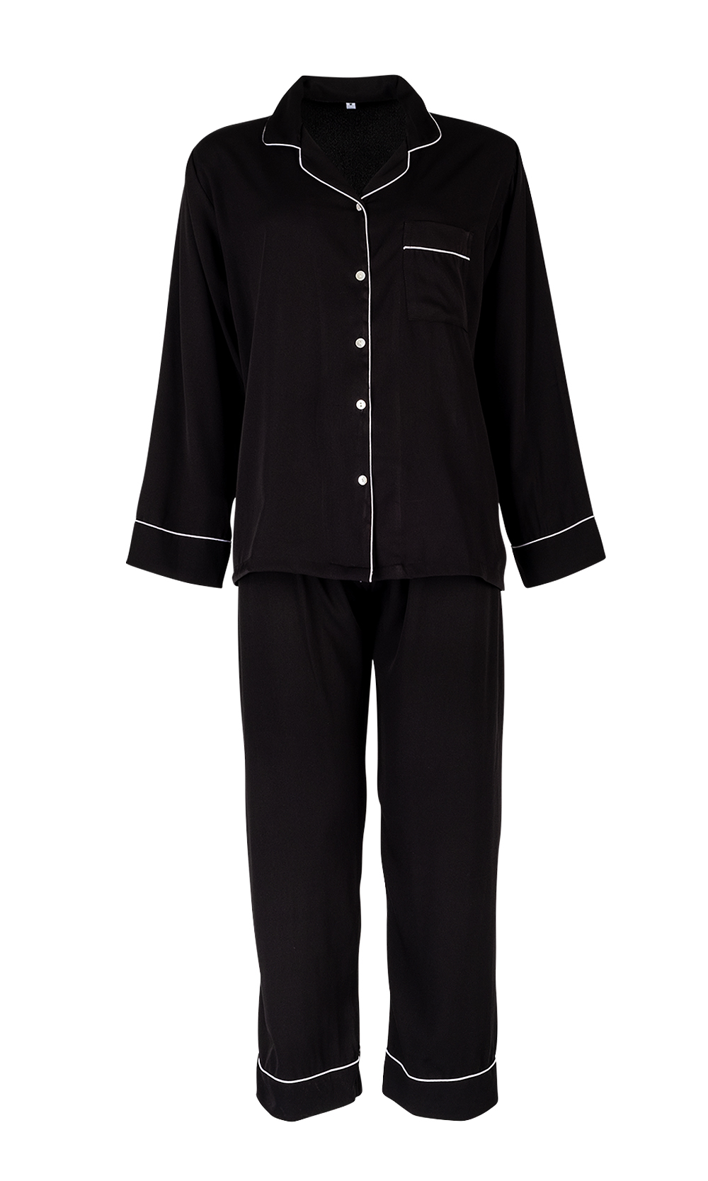 Black Luxurious Sleepwear & Pyjamas Set - Set