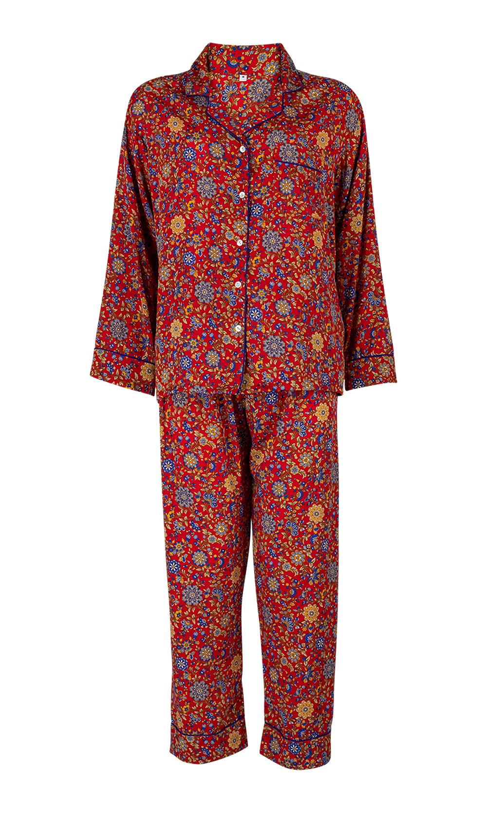 Red Luxurious Sleepwear & Pyjamas Set - Set
