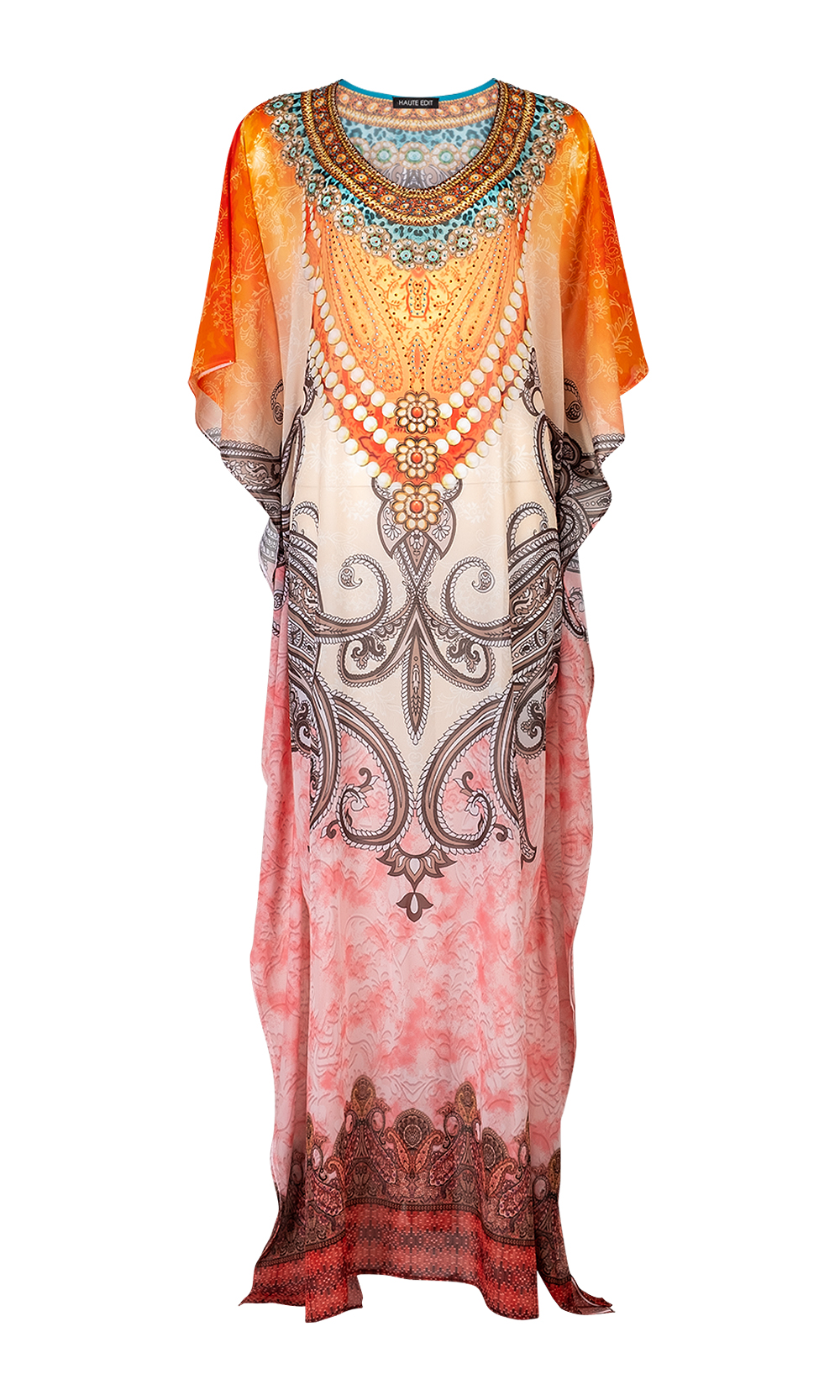 Stylish Maxi Beach Coverup Bohemian Kaftan