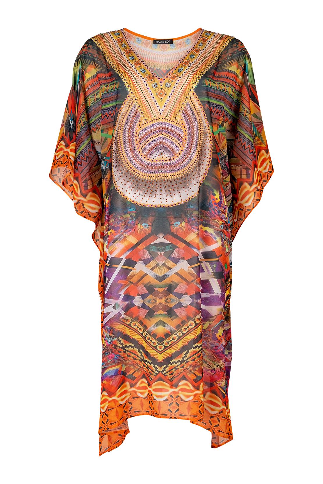 Stylish Maxi Beach Coverup Kimono Kaftan