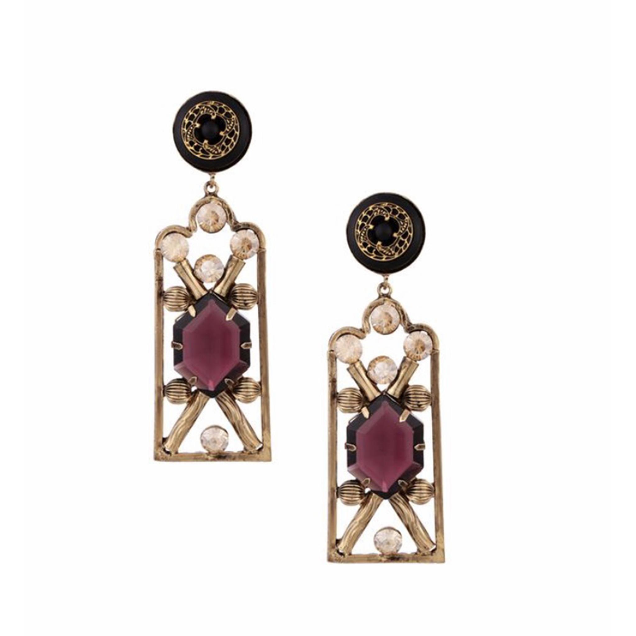 Valliyan Nitya Arora Copper Plated Nausheen Earrings