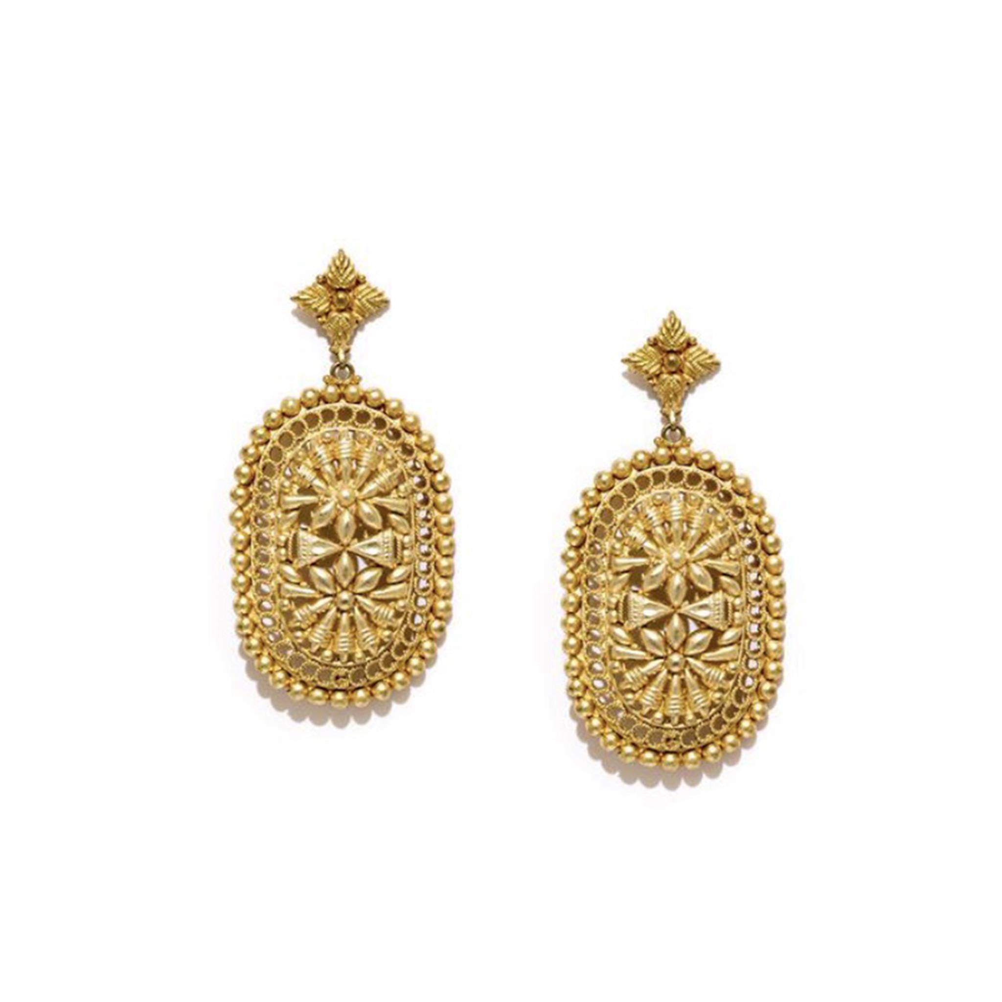 Valliyan Nitya Arora Gold Plated Mirza Designer Earrings