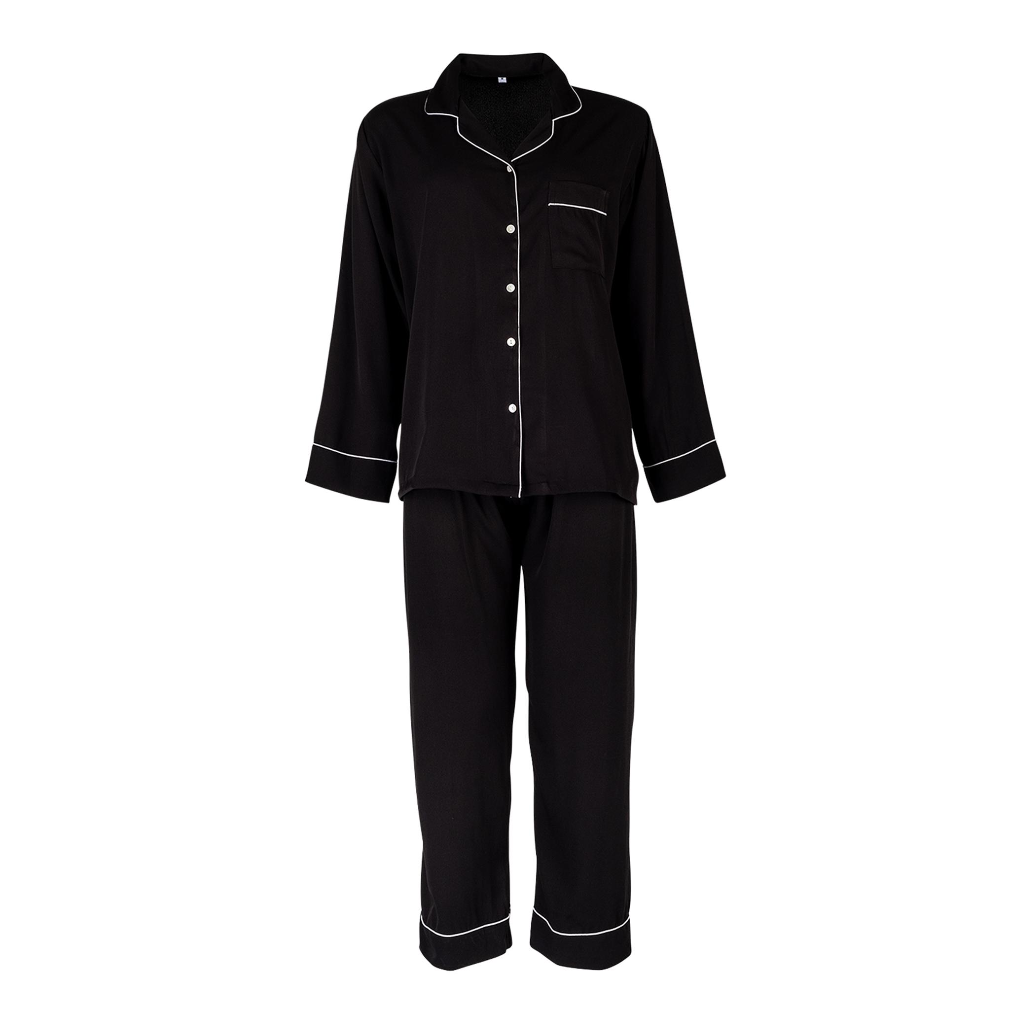 Womens Luxurious Sleepwear & Pyjama Set Classic Black