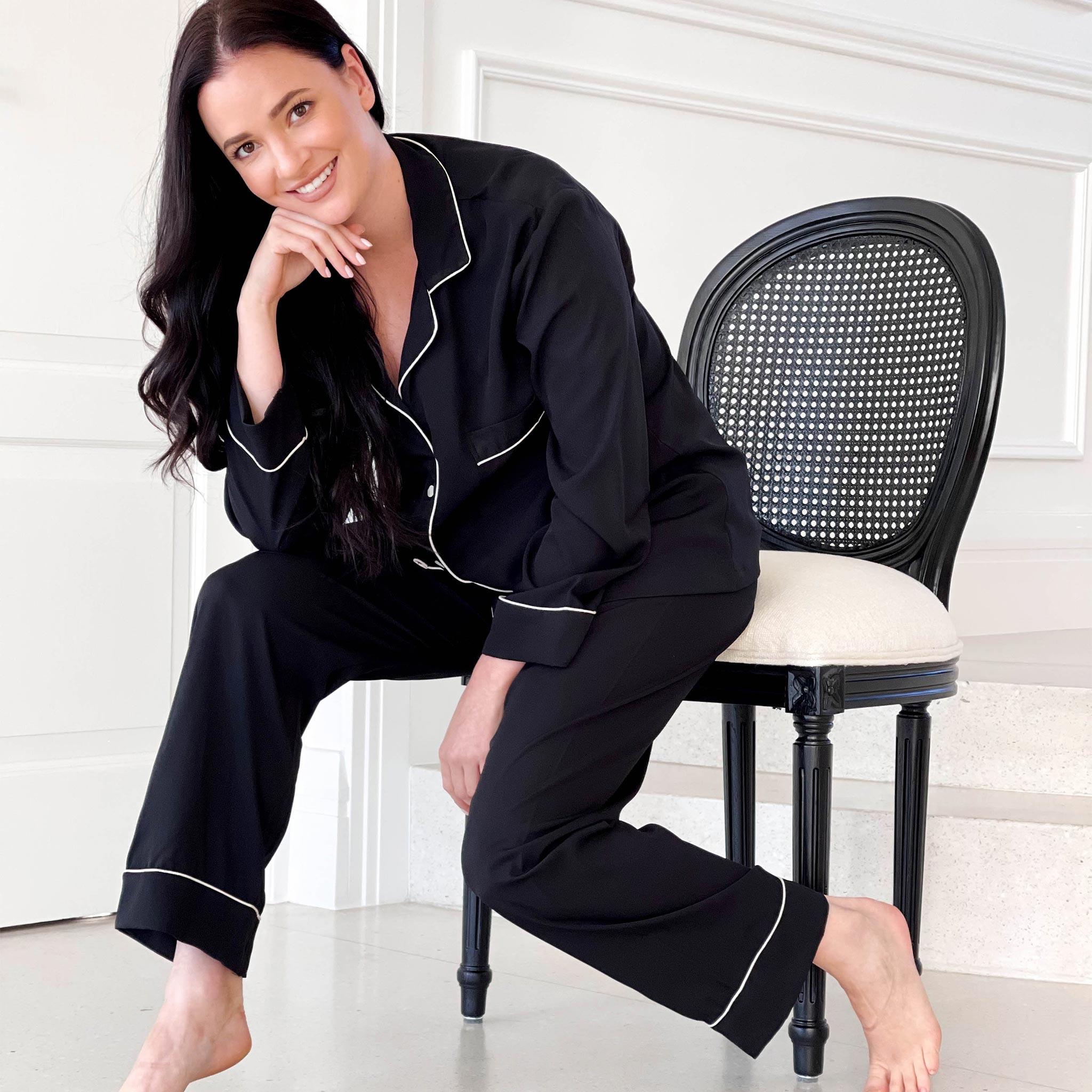 Womens Pajama Luxurious Sleepwear Pajama Black
