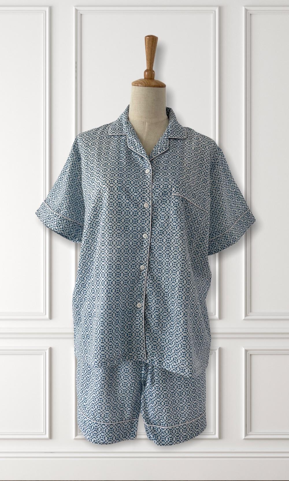 Hand Block Printed Cotton Pyjamas for Women