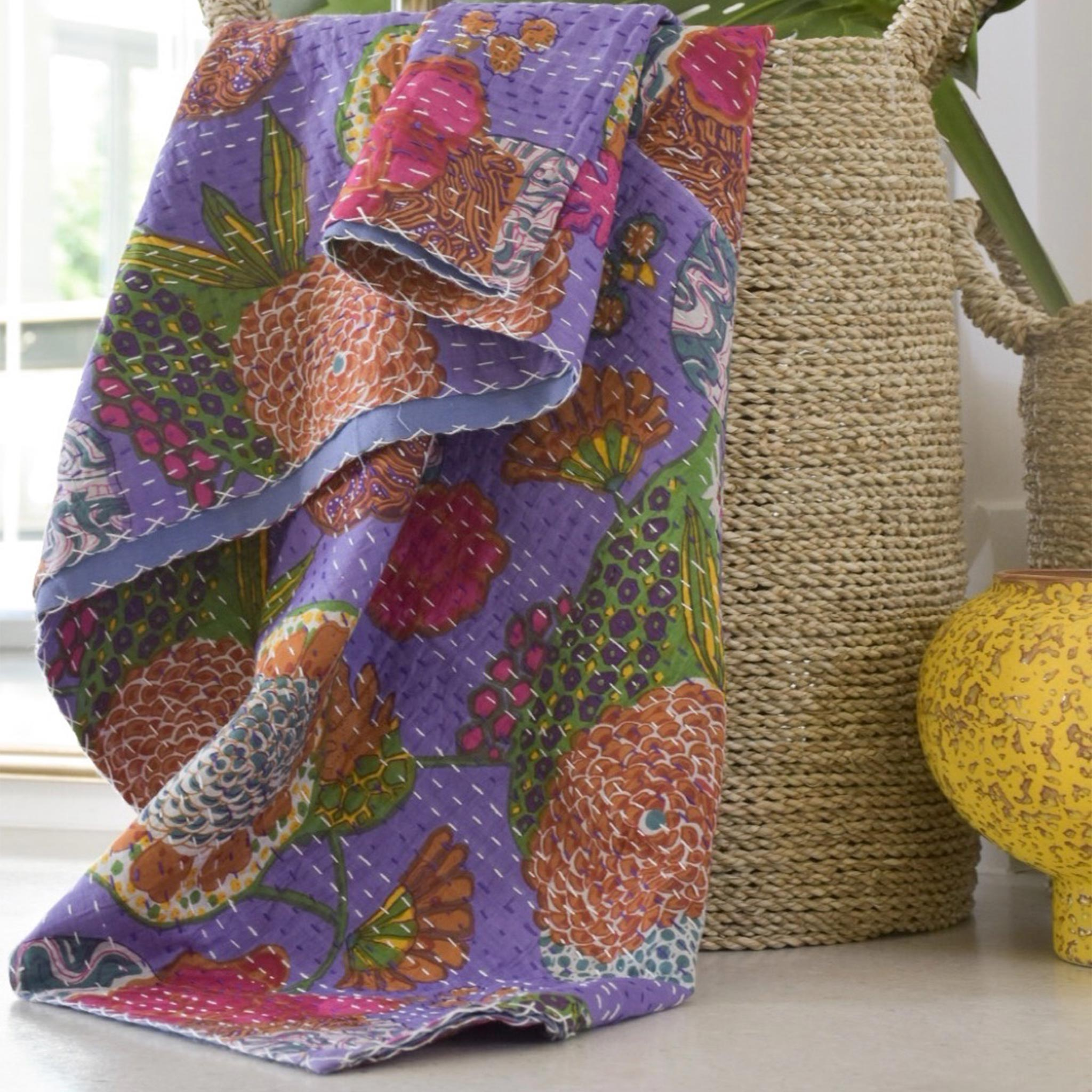 Reversible Cotton Kantha Quilts South Africa